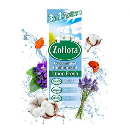 Zoflora Linen Fresh Concentrated Disinfectant, 500 ml